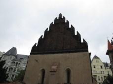 Staronova sinagoga - pročelje
