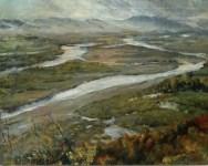Anka Krizmanić - Savski rukavci kod Podsuseda, 1952., ulje na platnu; 48x59