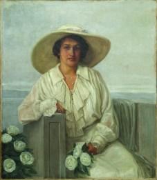 Nasta Rojc - Portret Maje Strozzi - Pečić, prva pol. 20.st., ulje na platnu; 119x98