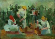 Vera Nikolić-Podrinska - Berba, 1967., ulje na platnu; 37x46
