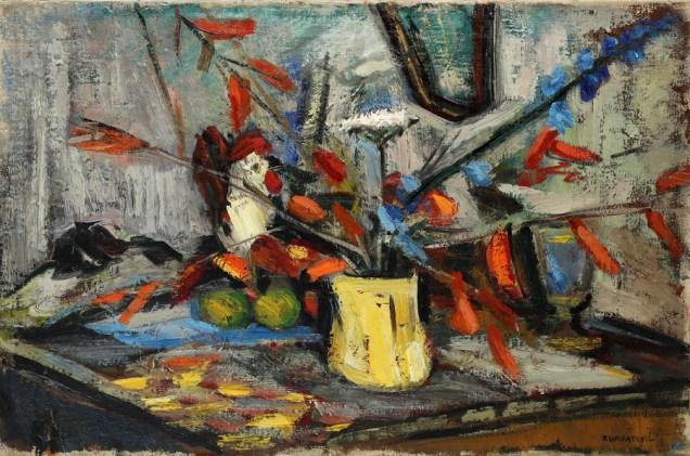 Mila Kumbatović - Mrtva priroda, 1954., ulje na platnu; 49x70