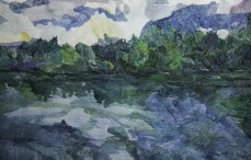 Ivona Jurić: Neodređeno doba dana 3, akvarel na papiru, 38 x56