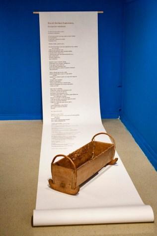 D.H. Lawrence - Kornjačino mladunče, Selected poems, Zagreb, 2009. / Kolijevka, kraj XIX. st., Gradski muzej Virovitica; foto: Borko Vukosav