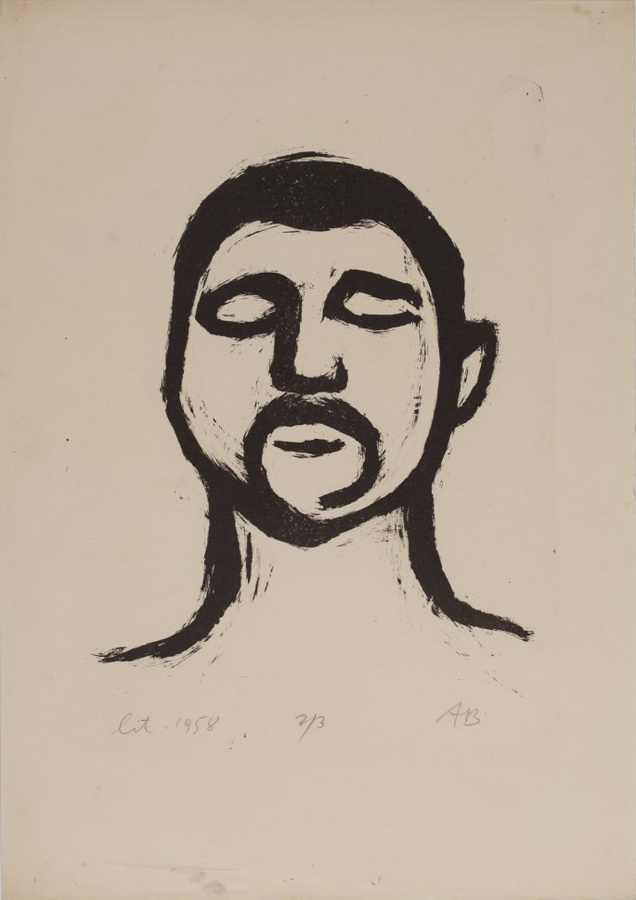 Glava, 1955.; litografija (foto: Dražen Bota)