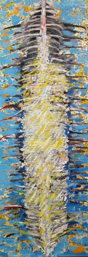 Vertikala, ulje na platnu, 200x 70 cm, 2008.