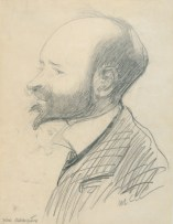 Autokarikatura 1903., olovka na papiru - foto: Goran Vranić