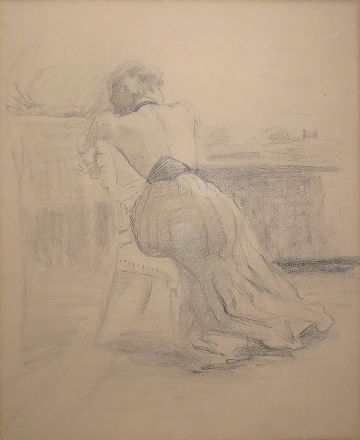 Odmor modela, 1909., olovka na papiru