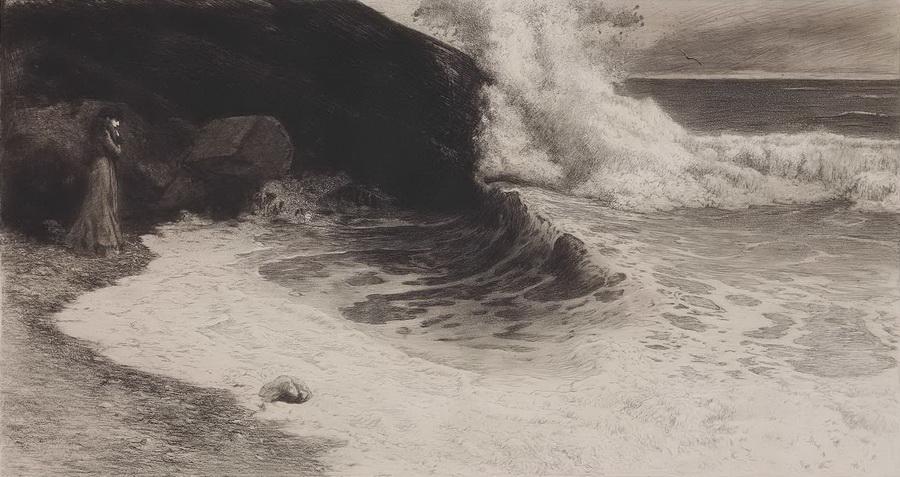 Osamljena, 1899., bakropis - foto: Goran Vranić