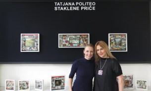 Uoči otvorenja izložbe s umjetnicom Tatjanom Politeo