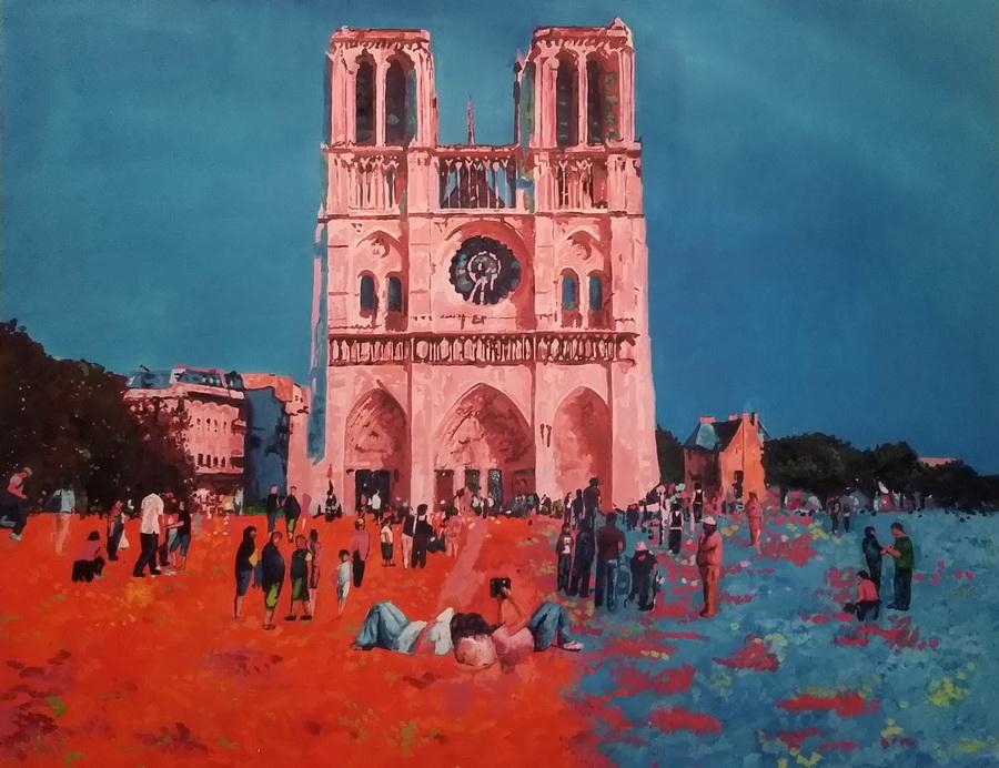 Pariz, ulje na platnu, 2016.