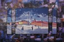 Varšava, jajčana tempera na papiru, fotografija, ulje - kombinirana tehnika, 2014.