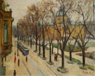 Zrinjevac zimi, 1951.