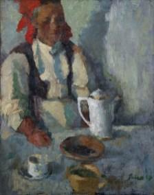 Djevojka s crvenom maramom, 1949.