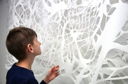 Detalj skulpture, 2016., papir, varijabilne dimenzije