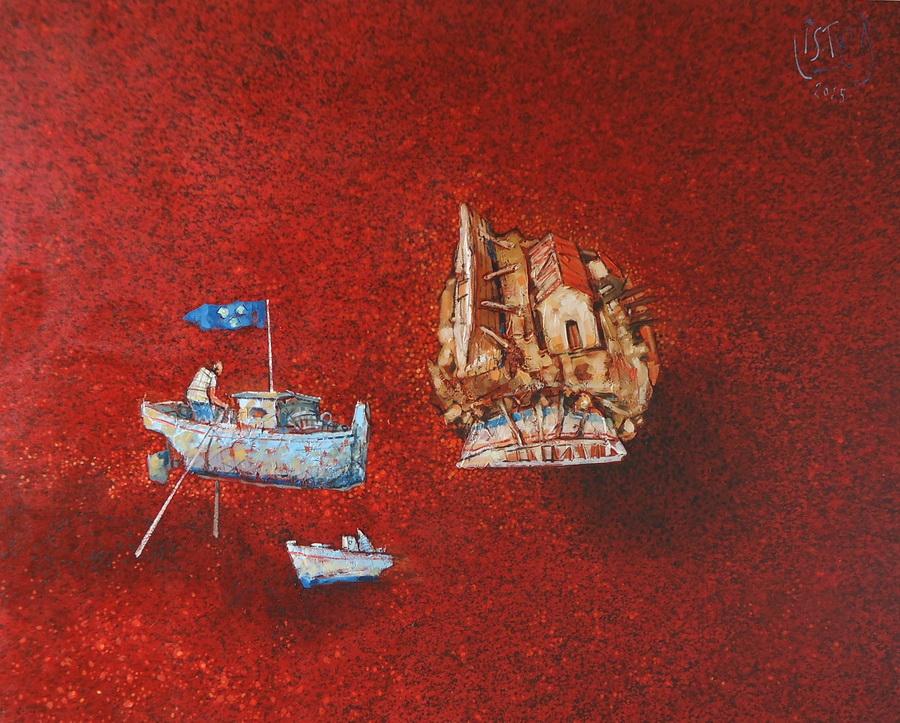 Naopako - akril i ulje na platnu, 2015.