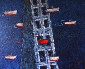 Prolaz - akril i ulje na platnu, 2015.