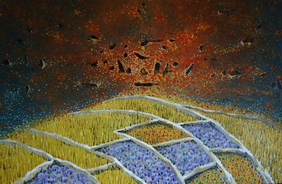 Sukob - akril i ulje na platnu, 2016.