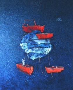 Tišina - akril i ulje na platnu, 2015.