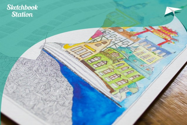 Rad Anastassije Kortsinskaje za Sketchbook Station projekt, autor fotografije: Antanas Štrimaitis