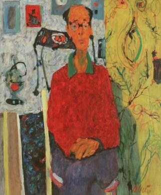 Ivo Dulčić - Portret Antuna Masle, 1965., snimio: Goran Vranić@Moderna galerija, vlasništvo Moderne galerije