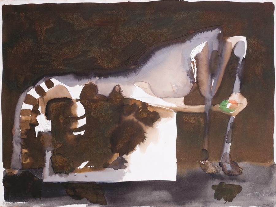 Akt 5, 1978., tempera/papir; 56,5x76cm