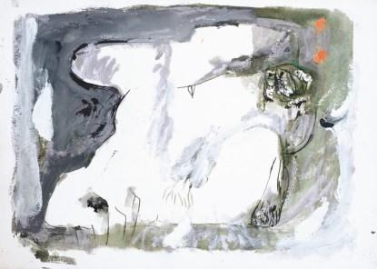 Akt (540), 1983., srebrno močilo, bijela tempera/papir; 44,5x62cm