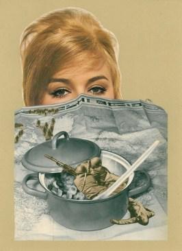 Maruša Štibelj - Bad soup, kolaž na papiru