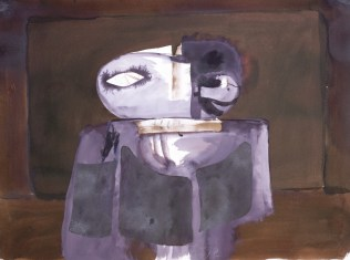 Janjeća glava 78 (106), 1978., tempera/papir; 56x76,5cm