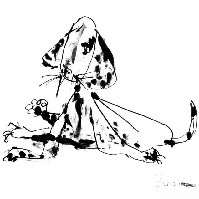 Pas, 1948-1950, tuš-pero/papir; 28,5x29cm