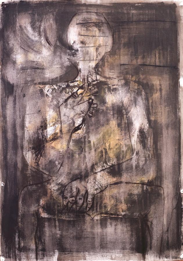 Pušač (62), 1950., tuš-pero, tempera/papir, 84x59cm