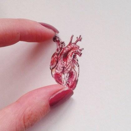Tiny Heart, 20x20 cm, akvarel, 2017.
