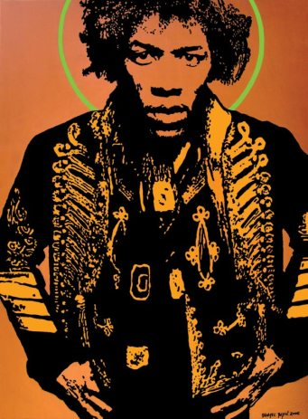 Jimi Hendrix, 2006, 100x70 cm, acrylic on canvas