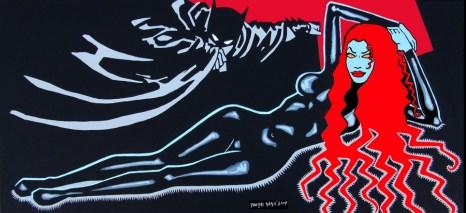 Via Francisco de Goya, 2009, 45x100 cm, acryl on canvas