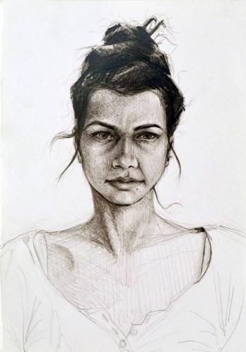 Judita Poljak - Studija 1, 2017., crtež: olovka/papir, 15x17,5cm