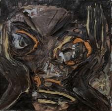 Krunislav Stojanovski - Zrcalo, 2017., instalacija: slika 25x25cm + video 1h loop