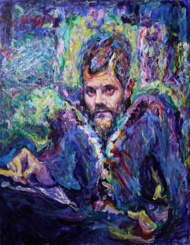 Vjeran Čengić -Autoportret 1, 2017., akril, 90x70cm
