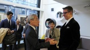 Veleposlanik Japana u Hrvatskoj Nj. E. g. Keiji Takiguchi, umjetnica Teruyo Sato i Leon Zakrajšek