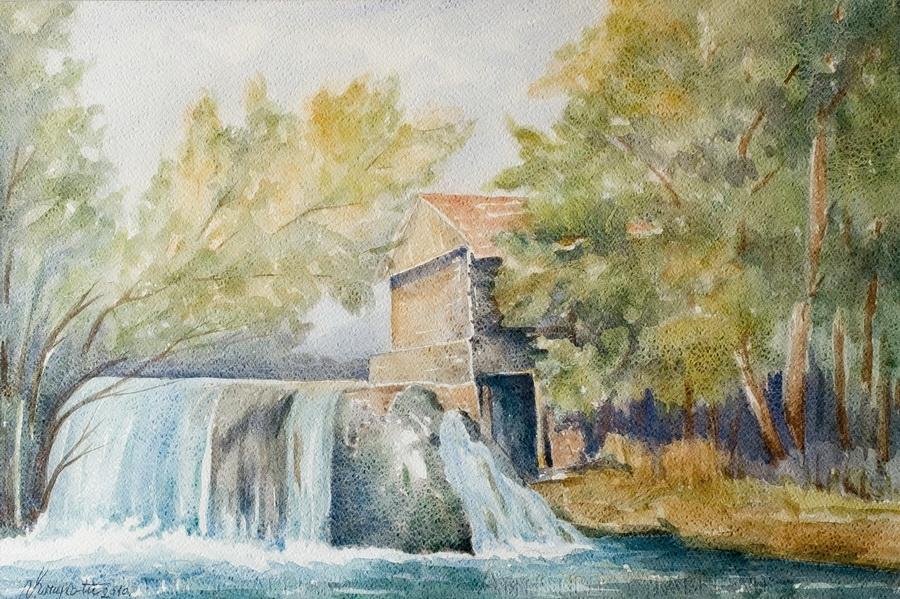Mlin na Mrežnici - akvarel, 2010., 36x54cm