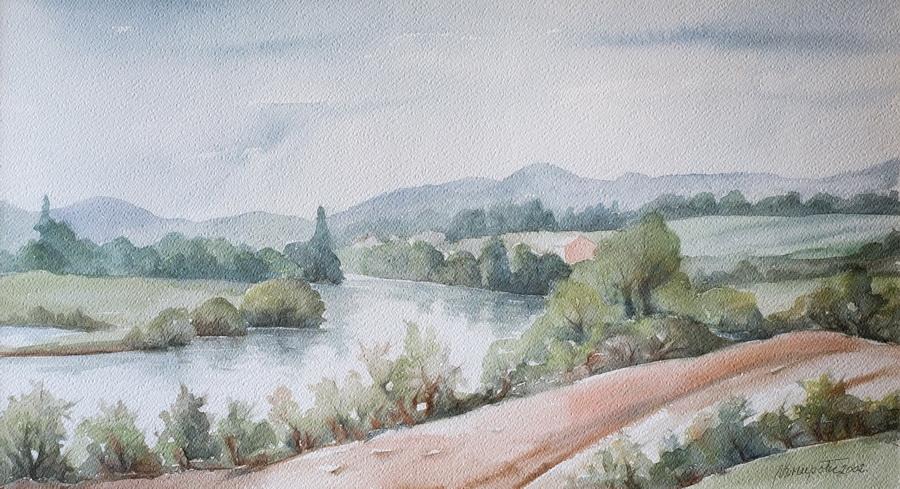 Na obali - akvarel, 2002., 36x56cm