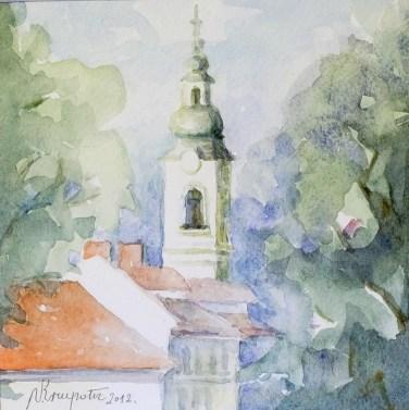 Srce Karlovca - akvarel, 2012., 15x15cm