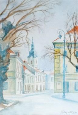 Vrata Radićeve - akvarel, 2010., 54x37cm