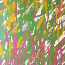 Nešto šareno, linorez, 80x70cm, 1/1, 2015.