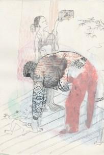 Ana Sladetić - Amerika i Japan, kombinirana tehnika, 24 x 34cm