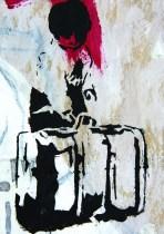 Putovanje - kombinirana tehnika, 26 x 17,5 cm, 2016.