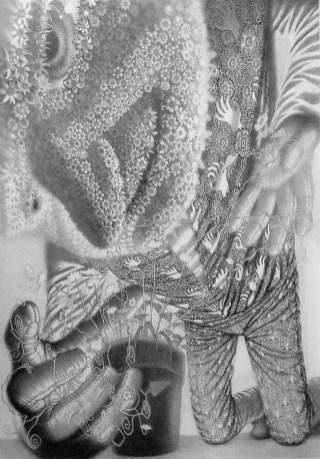 Davor Vrankić - Only Good Memories, olovka na papiru, 140x100cm, 2018.