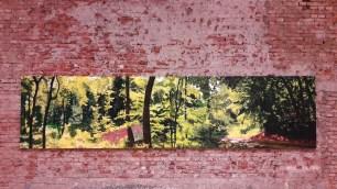 Ana Ratković Sobota - Forest, triptych, oil on canvas, 150 x 570 cm