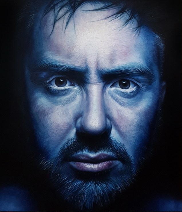Eugen Varzić - War in my head, ulje na platnu, 140x120cm, 2018.