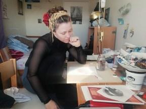 Likovna umjetnica Sandra Radić Parać pri radu