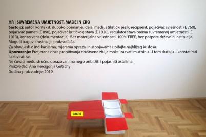 Ana Hercigonja Gutschy - Suvremena umjetnost. Made in Cro 2019., intervencija na rad iz 2010.