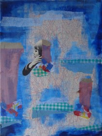 Reflection of youth, collage on canvas, 60x80cm, 2016.